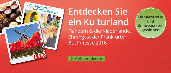Ehrengast Flandern auf der Buchmesse mit Gewinnspiel bei Hugendubel