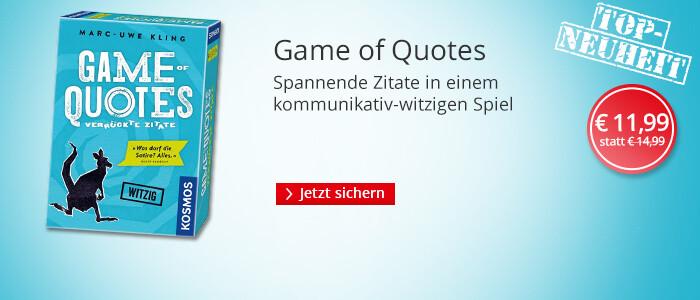 Games of Quotes - das neue Spiel von Mark-Uwe Kling