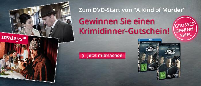 Gewinnen Sie zum DVD Start von A Kind of Murder ein Krimidinner!