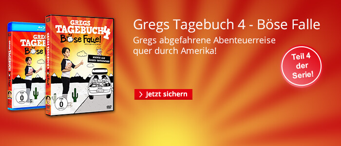 Jetzt auf DVD & Blu-ray: Gregs Tagebuch 4 - Böse Falle