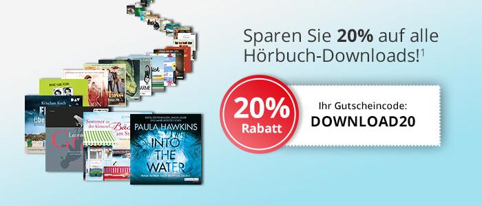 Sparen Sie 20% auf Ihre Hörbuch-Downloads