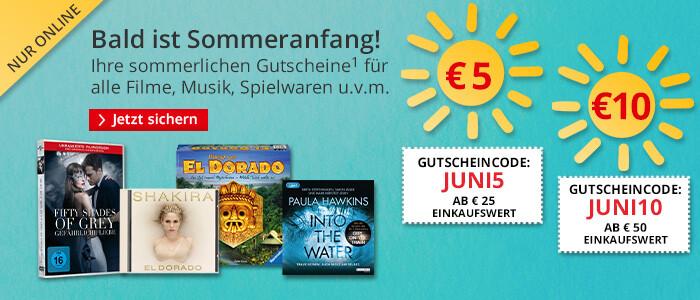 Bald ist Sommeranfang: Ihre Gutscheine für sommerliche Einkäufe