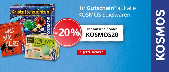 Ihr 20% Rabatt auf alle Spielwaren von KOSMOS