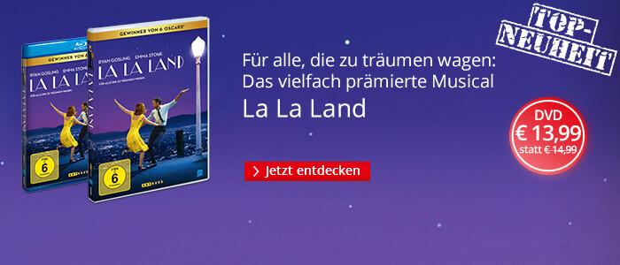 La La Land - der 6-fache Oscar-Gewinner jetzt auf DVD & Blu-ray