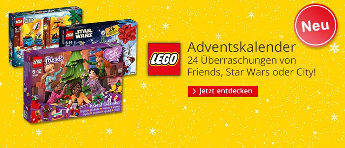 LEGO® Adventskalender: LEGO®Star Wars, LEGO®Friends, LEGO®City