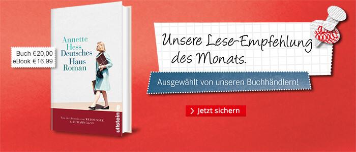 Unsere Lese-Empfehlung: Deutsches Haus von Annette Hess