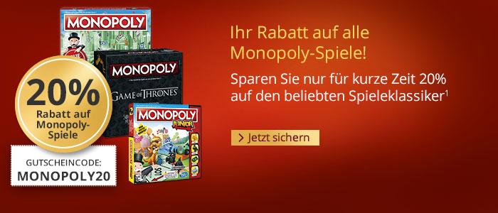 20% auf den beliebten Spieleklassiker Monopoly