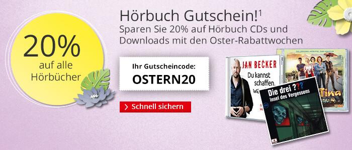 Ihr 20%-Gutschein auf alle Hörbücher & Hörbuch Downloads mit den Oster-Rabattwochen auf Hugendubel.de