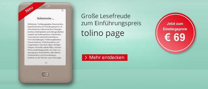 eReader tolino page zum Einführunsgpreis