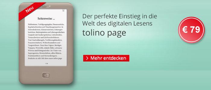 eReader tolino page - der perfekte Einstieg in die Welt des digitalen Lesens