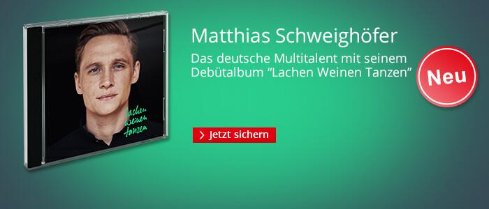 Matthias Schweighöfers Debütalbum: Lachen Weinen Tanzen