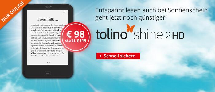 Der tolino shine 2 HD für nur 98 EUR bei Hugendubel
