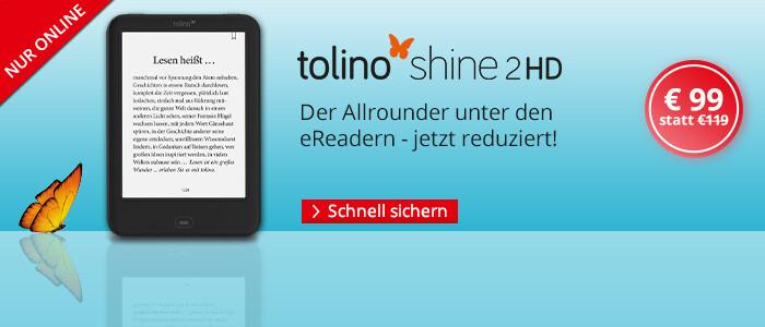 eReader tolino shine 2 HD für nur € 99