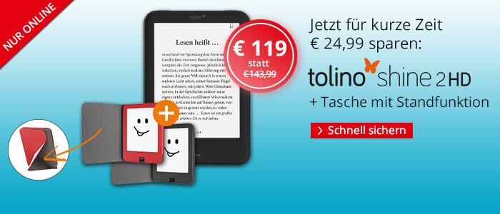 eReader tolino shine 2 HD - zusammen mit Hülle für 119 €