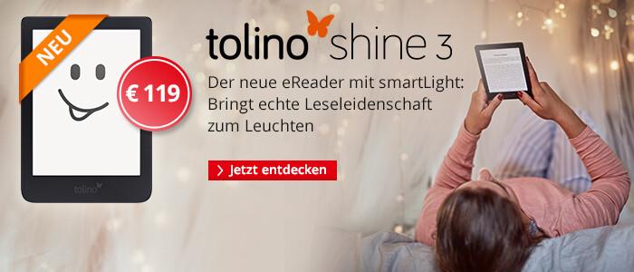 Der neue tolino eReader: tolino shine 3