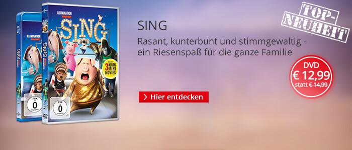 Sing - jetzt auf DVD & Blu-ray