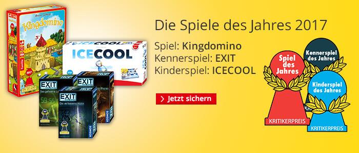 Spiele des Jahres 2017: Kingdomino, EXIT und Icecool