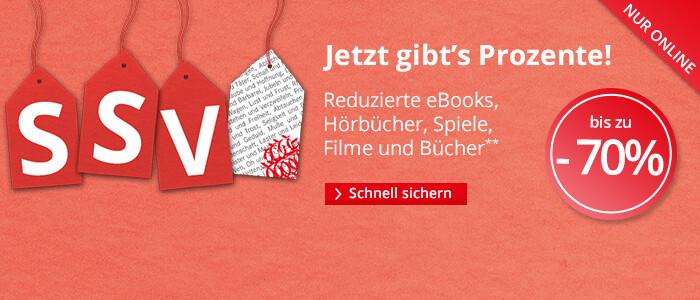 SSV - Jetzt gibt's Prozente! Reduzierte eBooks, Hörbücher, Spiele, Filme und Bücher