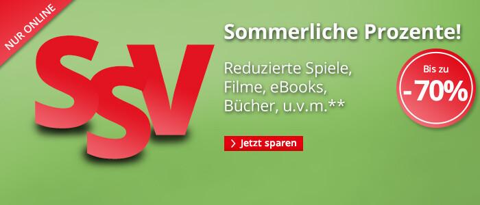 SSV - Sommerliche Prozente! Reduzierte eBooks, Hörbücher, Spiele, Filme und Bücher