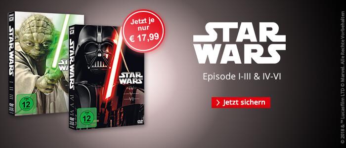 Star Wars I-III und IV-VI jetzt reduziert