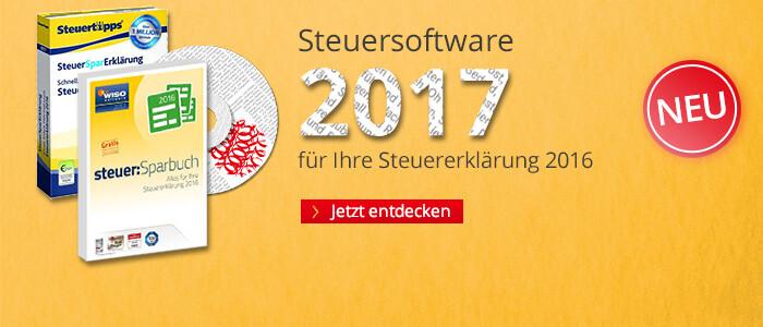 Steuersoftware 2017 - für die Steuererklärung 2016