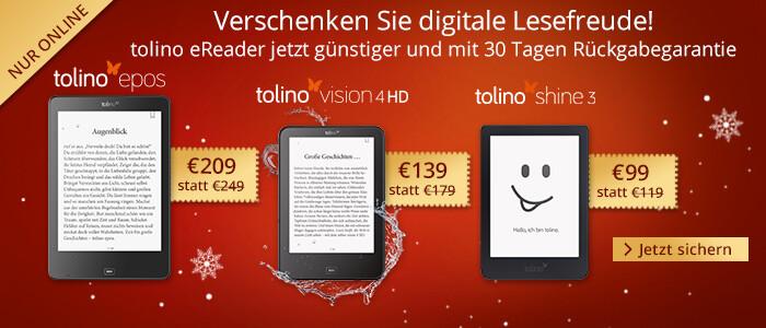 Verschenken Sie digitale Lesefreude: tolino eReader jetzt günstiger