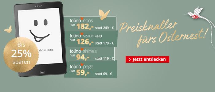 Preisknaller fürs Osternest: Jetzt bis zu 25% sparen auf tolino eReader