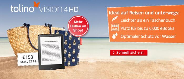 Perfekter Begleiter unterwegs und auf Reisen: tolino vision 4 HD - jetzt für 158 €