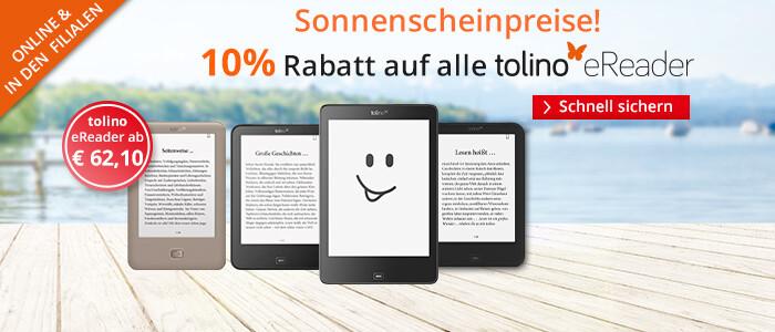 tolino Sonnenscheinpreise: Alle eReader -10% reduziert!