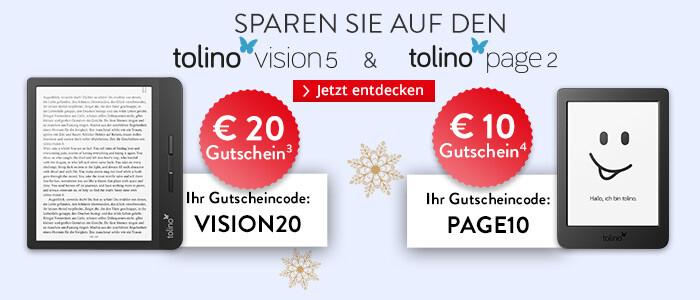 Jetzt auf tolino vision 5 und page 2 sparen