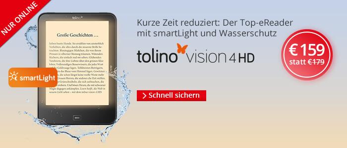eReader tolino vision 4 HD nur 159 Euro - jetzt sichern