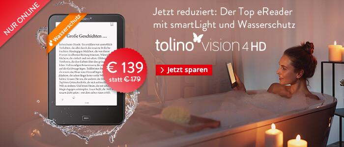 eReader tolino vision 4 HD für nur € 139 sichern