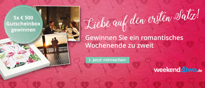 Gewinnen Sie ein romantisches Wochenende mit weekend4two