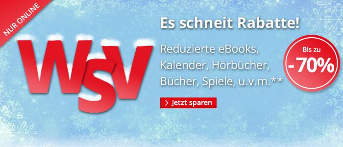 Es schneit Rabatte: Reduzierte eBooks, Bücher, Hörbücher, Spiele, Filme u.v.m.!**