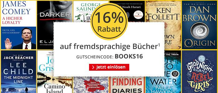 Sparen Sie 16% auf fremdsprachige Bücher