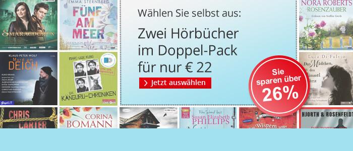 Zwei Hörbücher im Doppel-Pack für nur 22 EUR bei Hugendubel