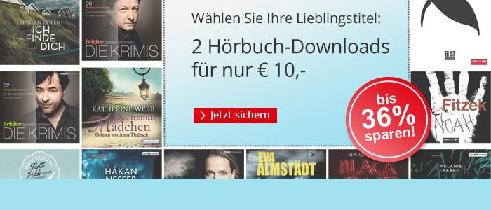 2 Hörbuch Downloads im Paket nur 10 EUR