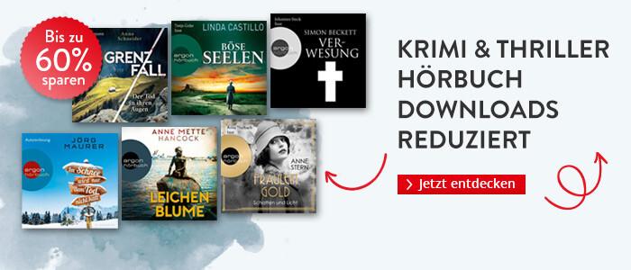 Krimi & Thriller Hörbuch Downloads reduziert bei Hugendubel