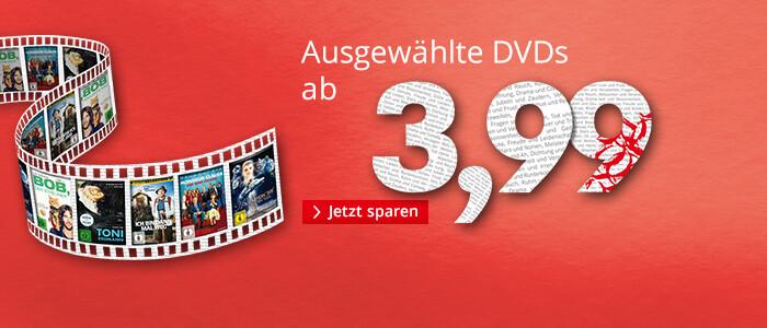 Ausgewählte DVDs ab 3,99 EUR