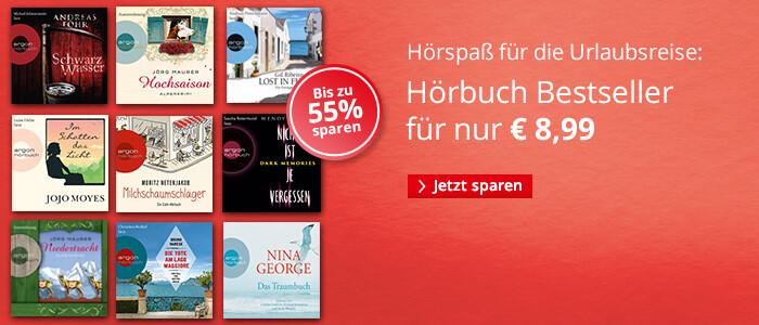 Hörbuch Bestseller je € 8,99
