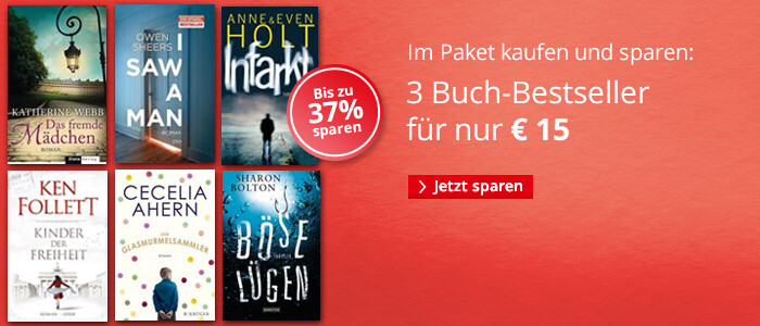 Sparen im Paket: 3 Bücher für 15 Euro