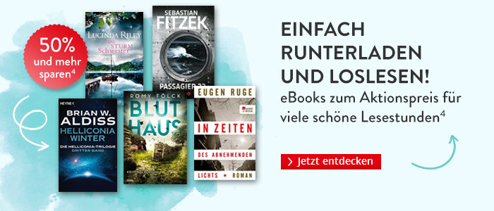 Einfach runterladen und loslesen: eBooks zum Aktionspreis für viele schöne Lesestunden bei Hugendubel