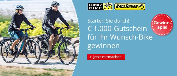 Gewinnen Sie einen € 1.000 Gutschein für Ihr Wunsch-Bike