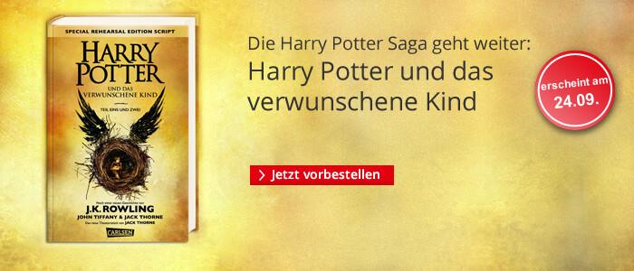 Harry Potter und das verwunschene Kind - jetzt vorbestellen