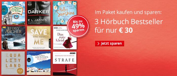 Drei Bestseller-Hörbücher im Paket nur 30 EUR bei Hugendubel