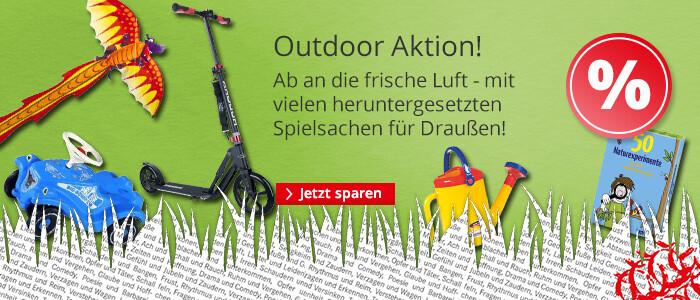 Spielwaren Outdoor Aktion - viele heruntergesetzte Spielsachen für Draußen!