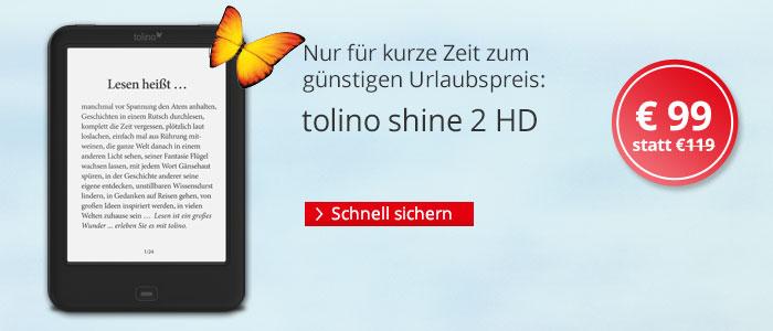 eReader tolino shine 2 HD für 99 EUR bei Hugendubel.de