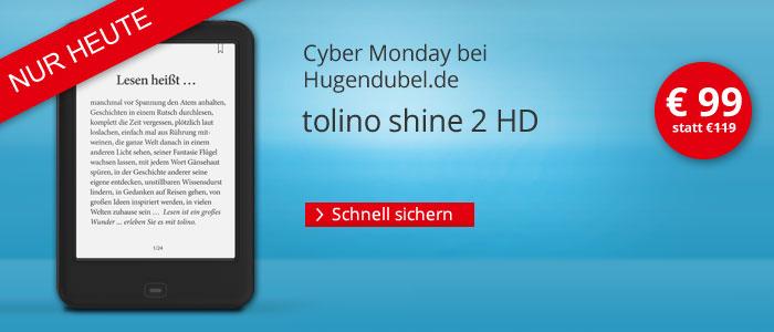 eReader tolino shine 2 HD nur € 99 bei Hugendubel.de