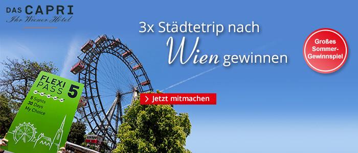 Gewinnen Sie 3x einen Städtetrip nach Wien!