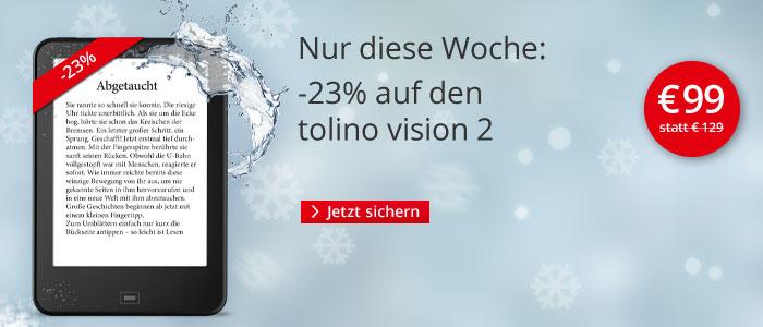 Nur für kurze Zeit: tolino vision 2 für 99 Euro